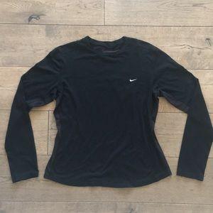 Nike Dr-Fit Black mesh inset Long slv pull over